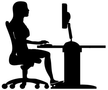 bien assis au bureau