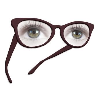 yeux corrigés par des lunettes