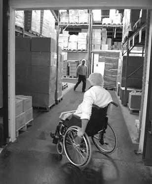 handicap en entrepot