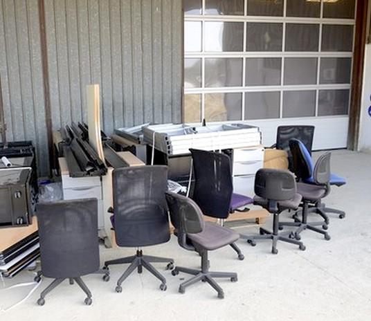 réemploi de chaises de bureau